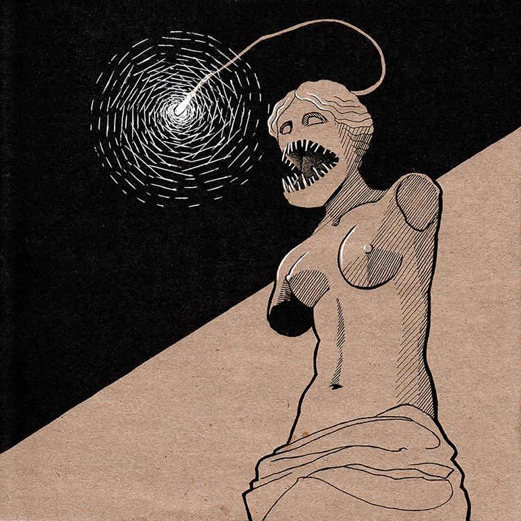 Bait or A Strange and Ancient Statue - Inktober 2019 - Natalia Stolarska